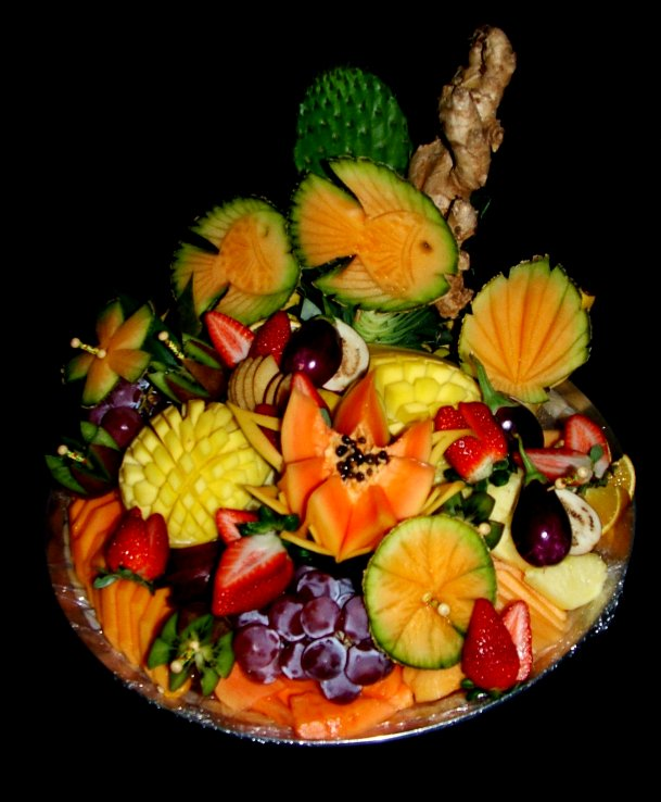 Gourmet bouquets carvings catering